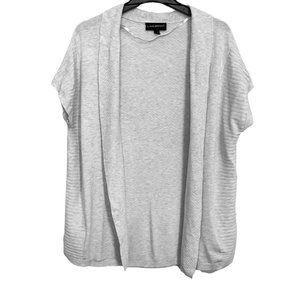 Lane Bryant Women's Plus Size Shrug Off White Open Front Short Sleeve Size 14/16
